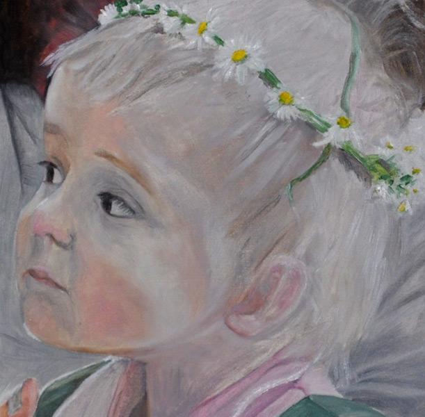 Blumenkind, Gemälde